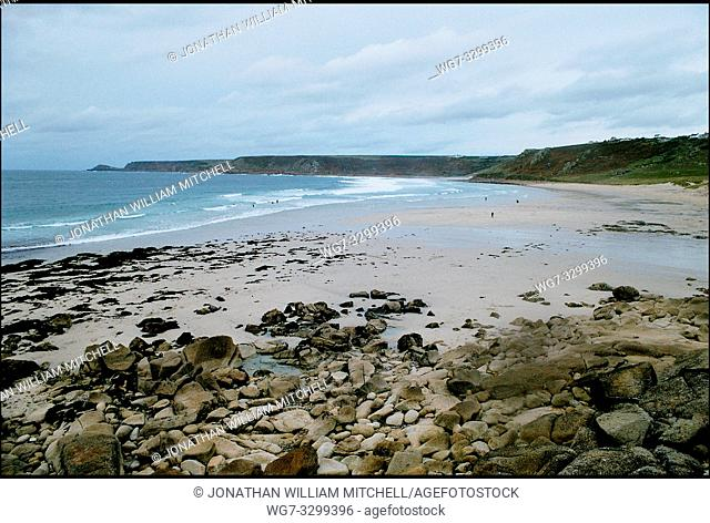UK Sennen Cove -- Nov 2003 -- Whitesands bay near Sennen Cove in the Penwith district of Cornwall -- Picture © Jon Mitchell / Lightroom
