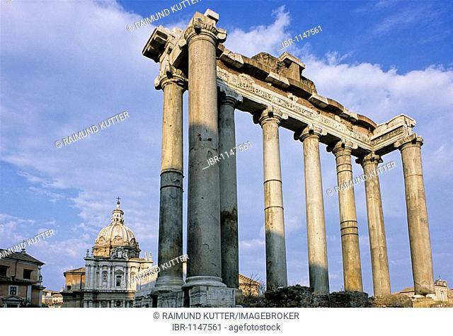 Church of Santi Luca e Martina, Temple of Saturn, Roman Forum, Rome, Lazio, Italy, Europe
