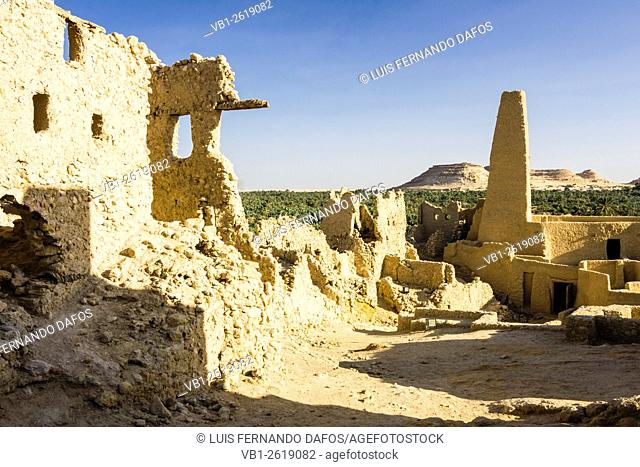 Temple of the Oracle and mosque, Siwa oasis, Egypt