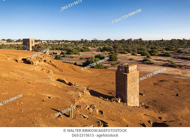 Australia, South Australia, Yorke Peninsula, Moonta, former copper-mining boom town, Moonta Mines, Richman's Engine House and Richman's Trailing Heap, slag heap