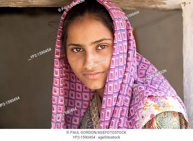 Young girl - Shyampura Village, Rajasthan, India- Shyampura Village, Rajasthan, India