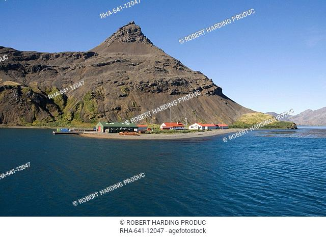 British Antarctic Survey site, King Edwards point, Grytviken, South Georgia, South Atlantic