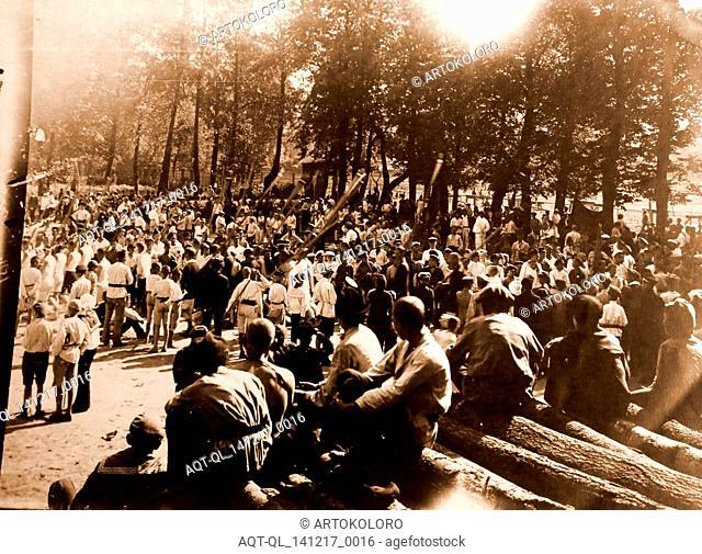 Spartakiad, Petrograd, Saint Petersburg, Summer 1920, Russia, sporting event was organized to celebrate the IInd Congress of the IIIrd International