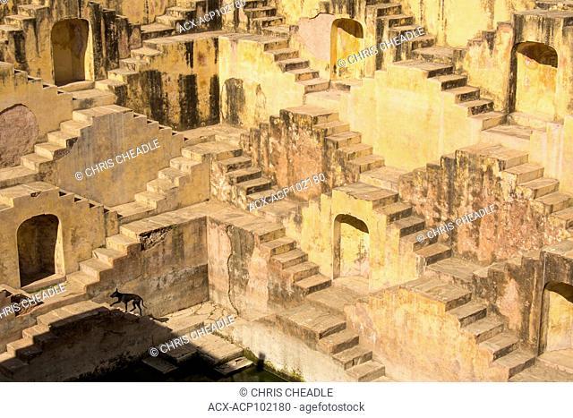 Panna Meena ka Kund, a step well, Amer, Jaipur, Rajastan, India