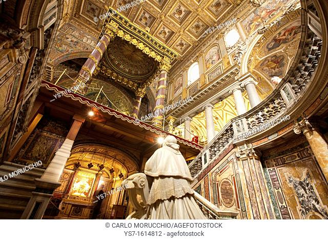The Papal Basilica of Santa Maria Maggiore, Saint Mary Major, on the Esquiline hill, Rome, Italy, Europe