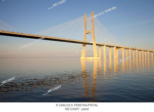 Vasco da Gama Bridge. Lisbon. Portugal