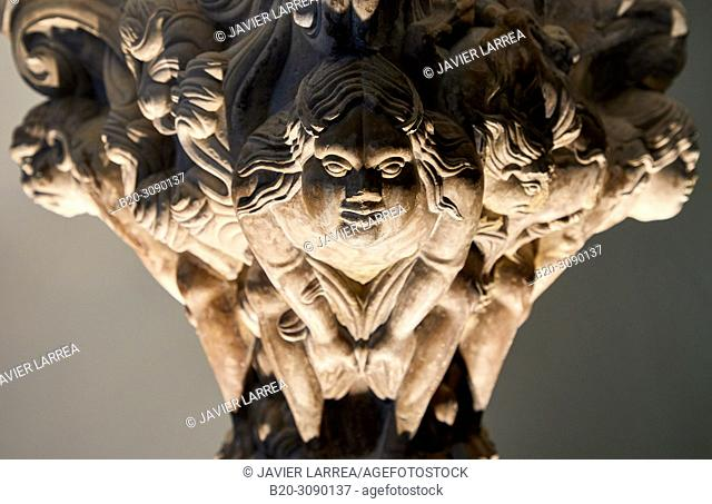 Chapiter, 12th century, Catedral de San Pedro de Jaca, Diocesan Museum, Museo Diocesano, Jaca, Huesca province, Aragón, Spain, Europe