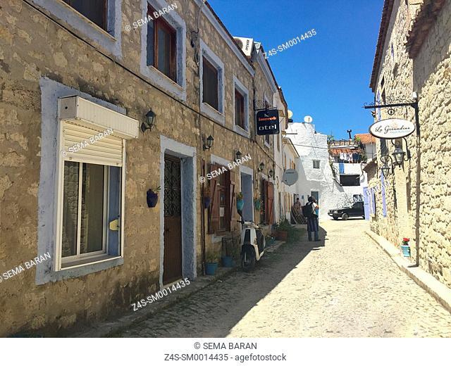 Traditional houses in Alacati town, the historic centre of Zeytineli Koeyue, Cesme, Izmir, Aegean Coast, Turkey, Europe