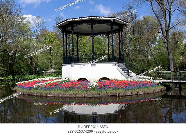 Amsterdam,netherlands-may 2, 2015: Music stage in the Vondelpark in Amsterdam