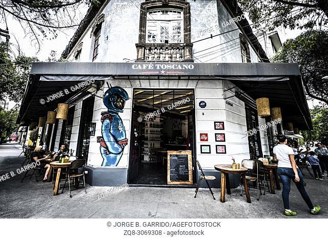 Café Toscano, Restaurant at Colonia Roma Norte, Mexico City, CDMX