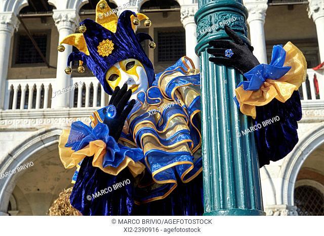 Carnival mask, Piazza San Marco, Venice carnival, Venice, Italy