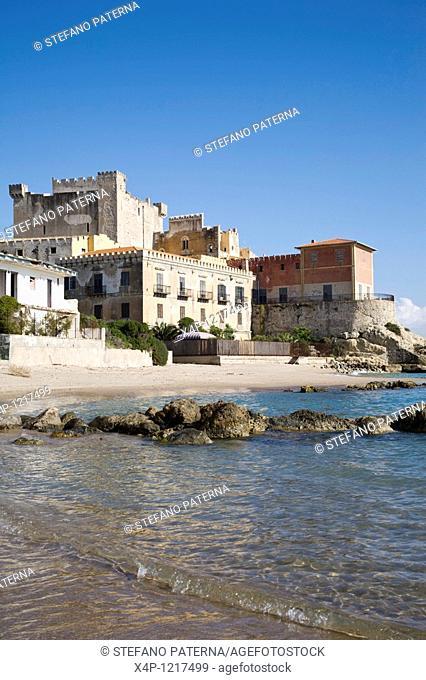 The historic Falconara castle in Sicily, Italy