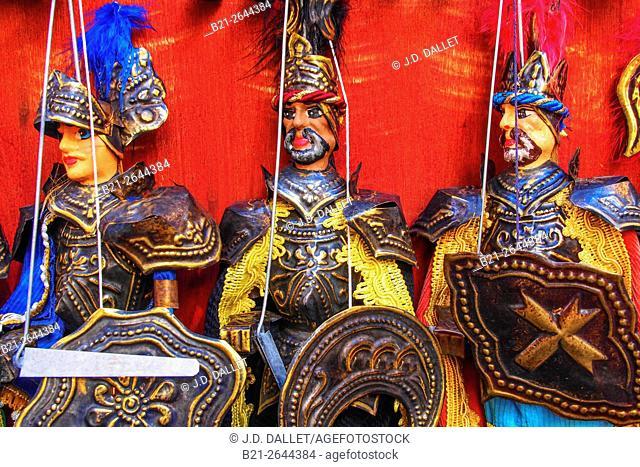 Puppets, Taormina, Sicily, Italy