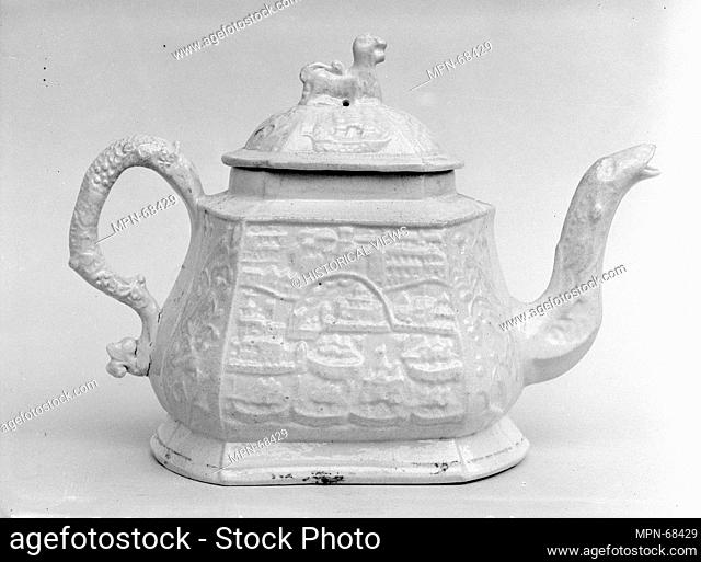 Teapot. Date: ca. 1740; Geography: Made in Staffordshire, England; Culture: British (American market); Medium: Stoneware; Dimensions: H. 5 1/4 in. (13