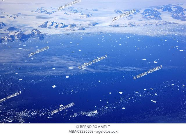 Greenland, East Greenland, coastal scenery, mountain landscape, glacier, ice sheet
