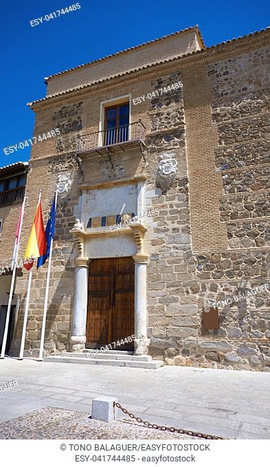 Toledo Fuensalida facade in Spain at Castile La Mancha