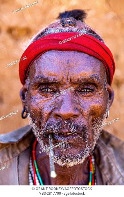 Portrait Of A Hamer Tribesman At The Turmi Monday Market, Turmi, Omo Valley, Ethiopia