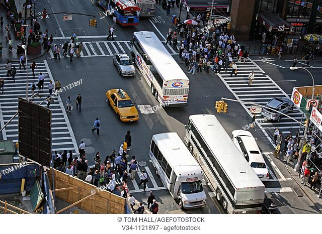 42nd Street shot from above
