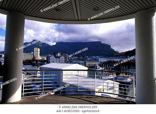 View of Table Mountain from V&A Waterfront, Cape Town, Western Cape, South Africa