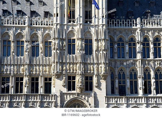 City Hall, Grand Place, Unesco World Heritage Site, Brussels, Brabant, Belgium, Europe