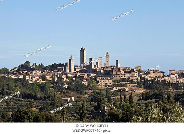 Europe, Italy, Siena Province, View of San Gimignano