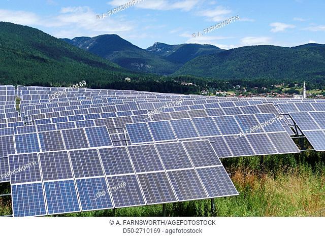 Solar panels. Asiago, Veneto Region, Italy