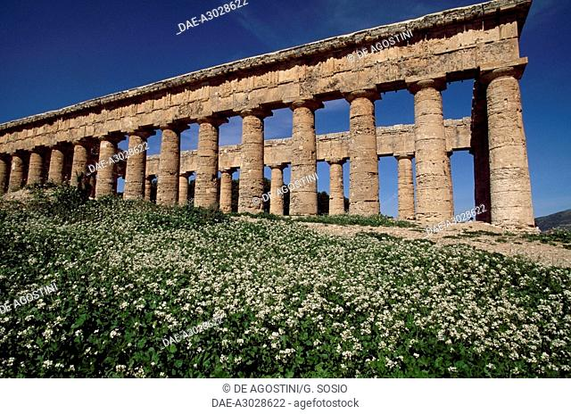 Temple of Segesta, Sicily, Italy. Greek civilisation, 5th century BC