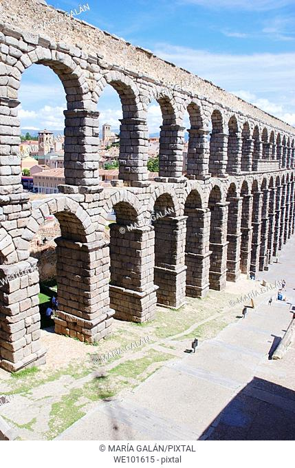 Roman aqueduct. Segovia, Castilla León, Spain