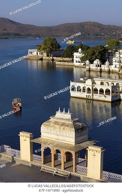 View over Pichola lake,Udaipur, Rajasthan, india