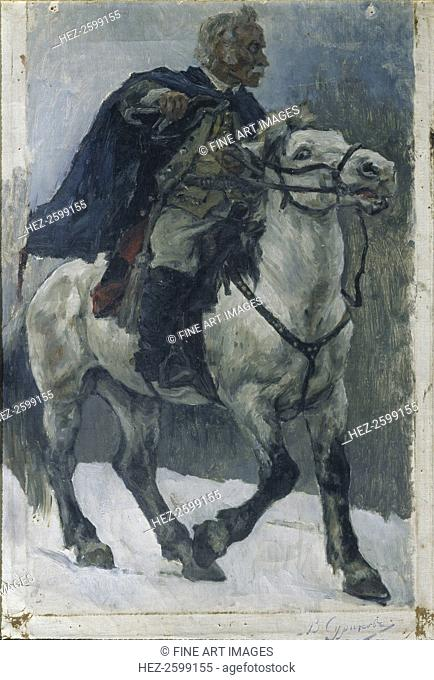Alexander Suvorov on horseback, 1897-1898. Found in the collection of the State Tretyakov Gallery, Moscow