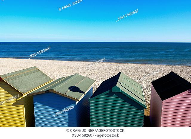 Beach Hut English Channel Budleigh Salterton Stock Photos And Images