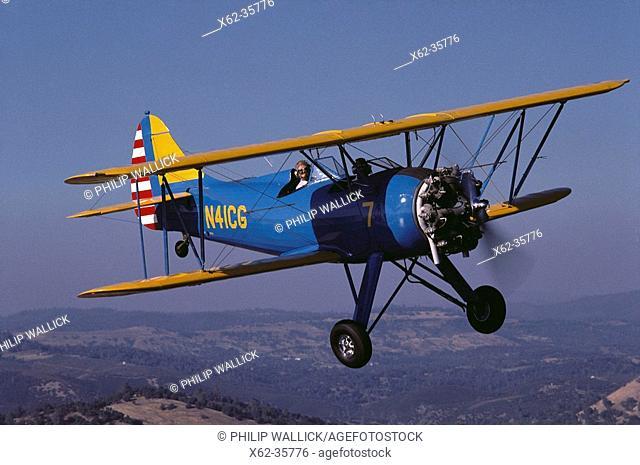 1940's WACO UPF-7 antique restored aircraft