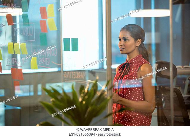Executive reading glass board