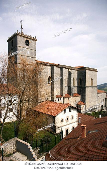 Church of San Esteban, Aya Aia, Guipuzcoa Gipuzkoa Basque Country Euskadi, España Spain