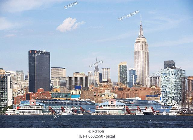 USA, New York State, New York City, Manhattan, Skyscrapers of Manhattan