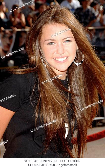 Miley Cyrus at arrivals for Harry Potter and the Order of the Phoenix Premiere, Grauman's Chinese Theatre, Los Angeles, CA, July 08, 2007