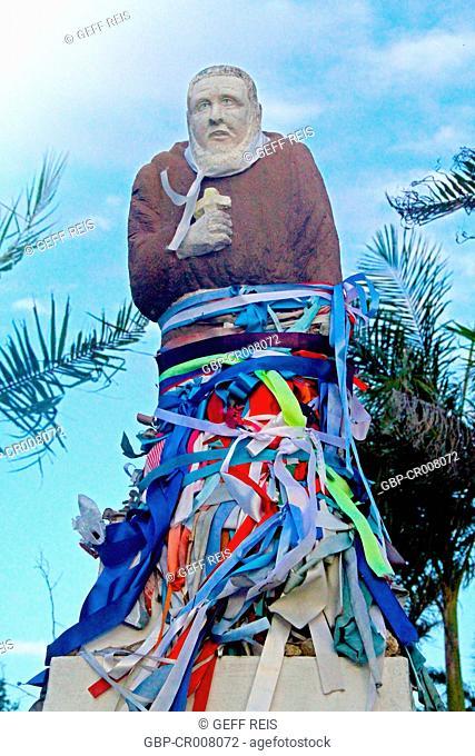 Lord of Bonfim ribbon, Orisha, Statue, Guarabira, Paraiba, Brazil