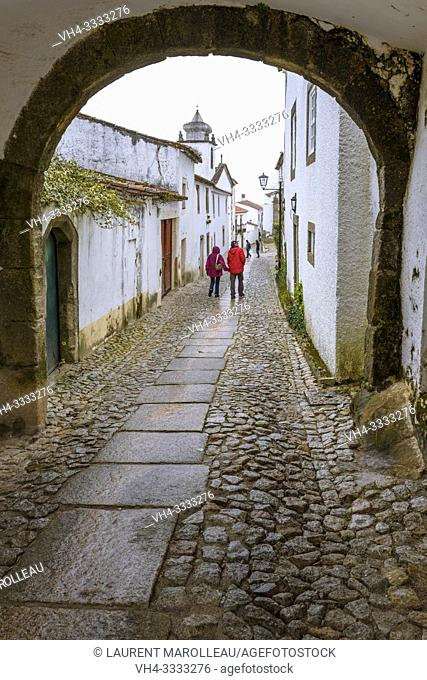 Vaulted passageway in the fortified medieval town of Marvao, Portalegre District, Alentejo Region, Portugal