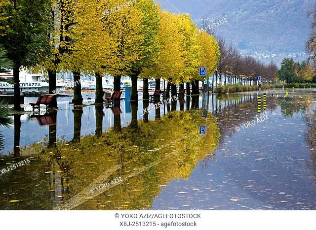 Switzerland, Locarno, alluvion
