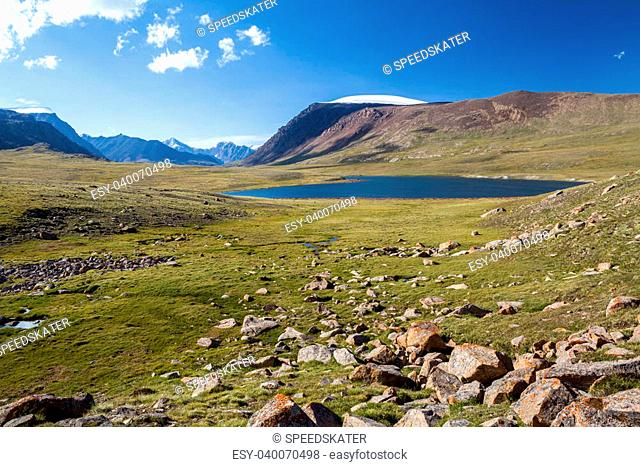 Lake in Arabel valley. Tien Shan, Kirgizstan