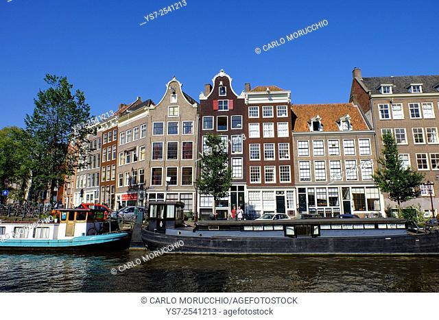 Bulidings on Prinsengracht, Amsterdam, The Netherlands, Europe