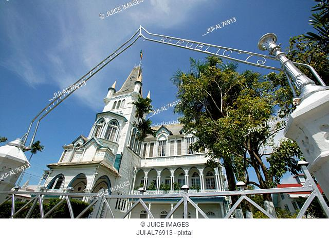 Low angle view of City Hall, Georgetown, Guyana