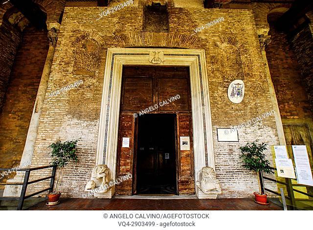 The Entrance to the Chiesa di San Giovanni e Paolo, Rome, Italy, Europe