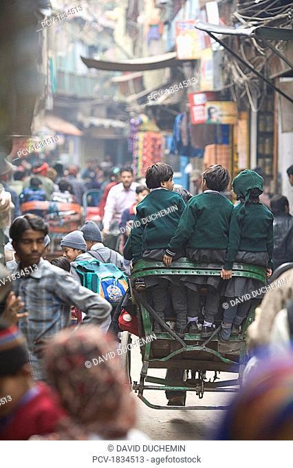 Old Delhi, India, View of a street scene