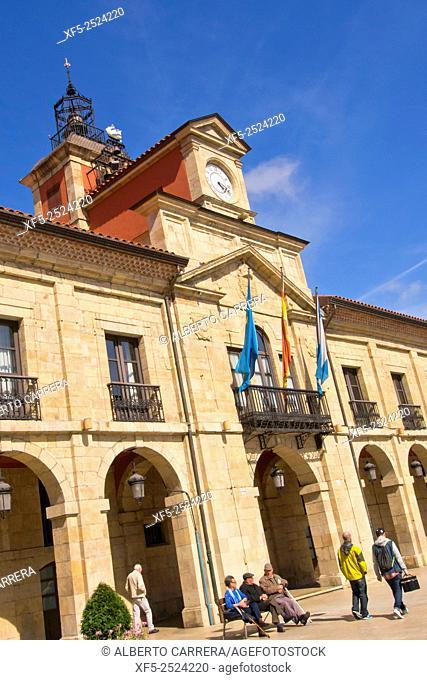 City Council, City Hall, Square of Spain, Avilés, Asturias, Spain, Europe