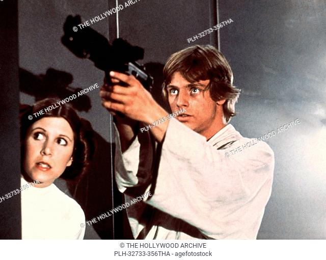 Carrie Fisher and Mark Hamill, Star Wars Episode IV: A New Hope 1977 Lucasfilm Ltd