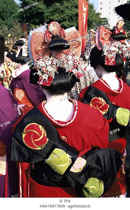 Asia, Japan, Asia, Honshu, Tokyo, Geishas, Geisha, Oiran, Jidai Matsuri, Festival, Festival of Eras, Festival, Festiva