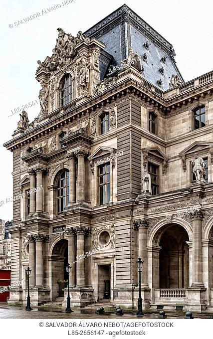 Pavillion Mollien, Palace of Louvre, Paris, Francia