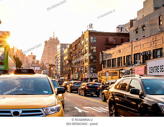 Traffic in Chinatown, New York