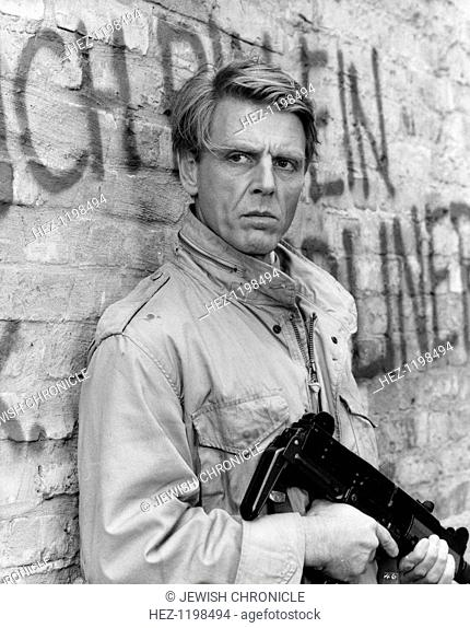 Edward Fox (1937- ), British actor, in a scene from Wild Geese II, 1985